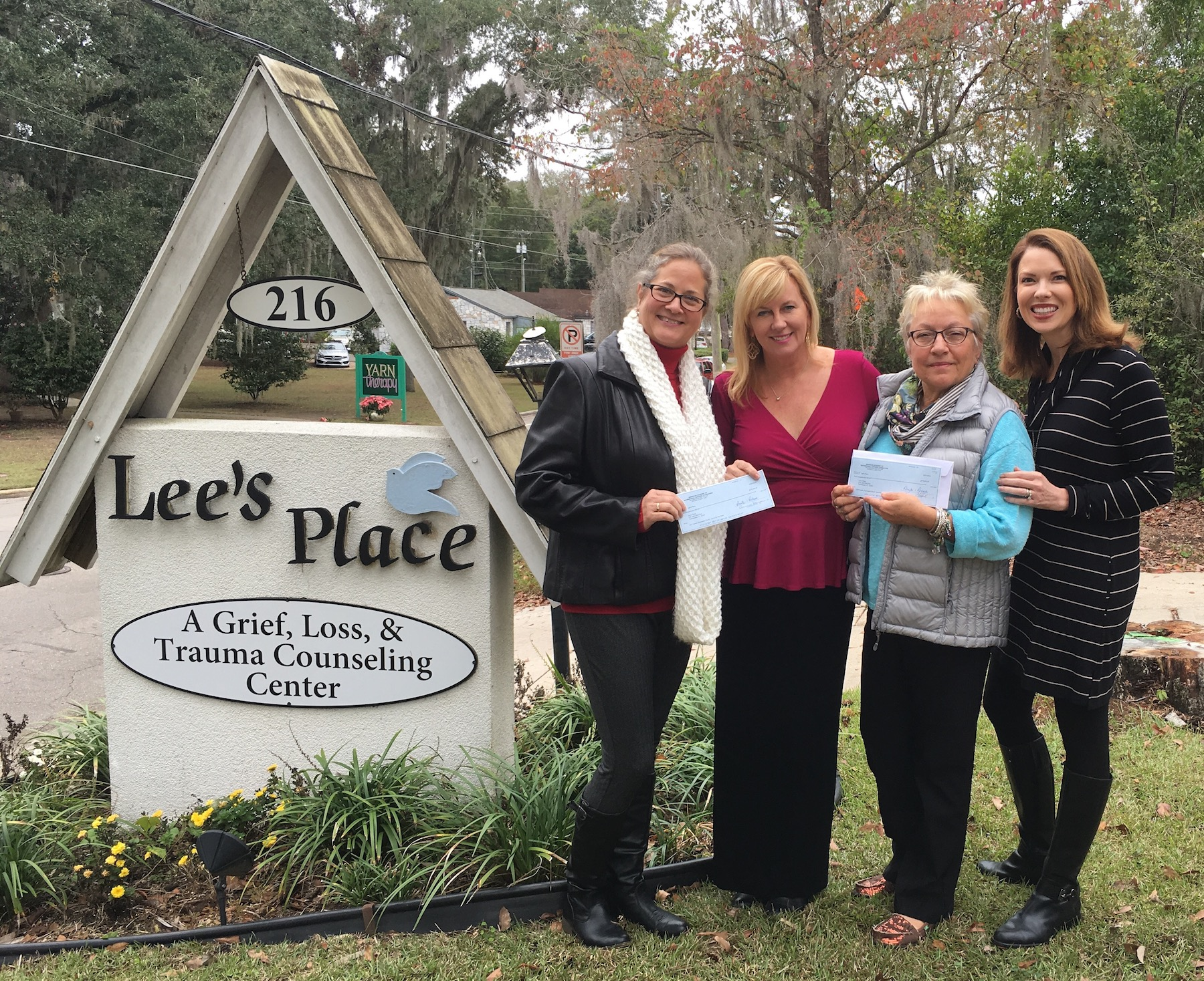 The AAML Foundation presenting a check to Lee's Place staff on Tuesday, December 20th, 2016.